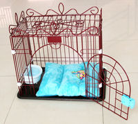 Factory low price galvanized iron large dog cages indoor pet house metal dog kennel
