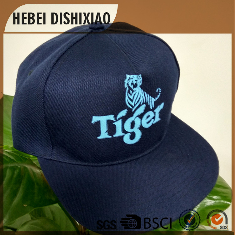 Custom hip hop dark blue caps and hats with printing logo high quality snapback caps hip hop