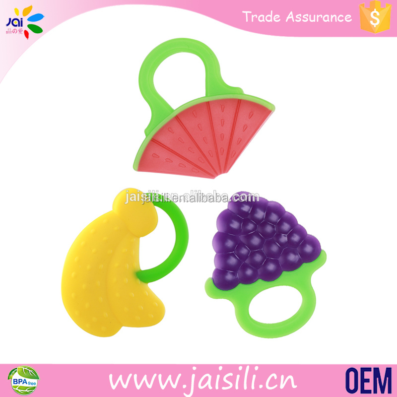 Wholesale funny fruit baby rattles toys for infants teethers