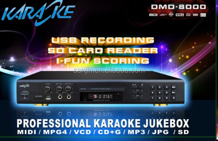 New functions Multi-Format Karaoke DVD Mp4 Divx Player with Inbuilt Recorder+ USB