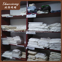 white fabric for hotel bed sheet /polyester cotton grey Stripe fabric, hotel bed sheet45*45s 133*72