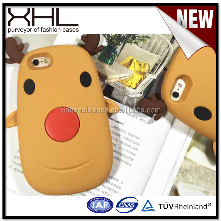 Cartoon 6plus protective sleeve silicone soft cute 6s cartoon character cell phone case