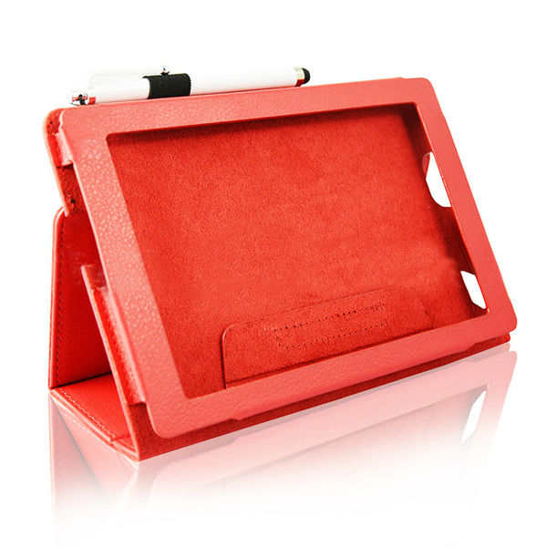 Big Red leather case cover for Kindle Fire HD 7inch