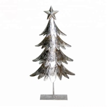 Mini Artificial Lights Personalized Metal Christmas Tree Ornaments Decoration Top Star