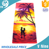 100% cotton woven China supplier custom romantic beach towel