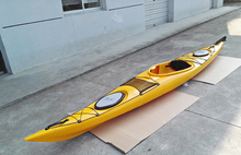Colorful plastic single ocean canoe professional sea kayak for water sports