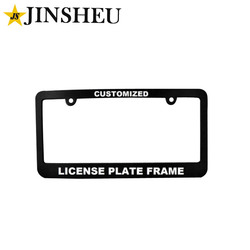 Wholesale cheap metal car number license plate frame