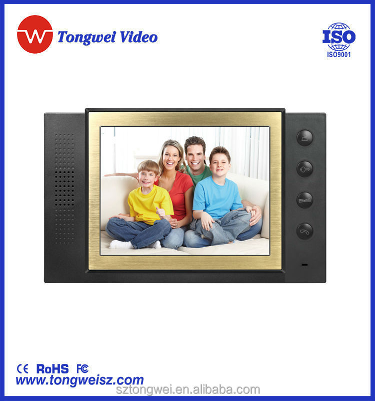 8 inch access control system free videos DP-889 with outdoor camera support IR night version