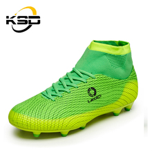 KSD High Top Custom Hign Quality Soccer Shoes Sport Football Boots Shoes