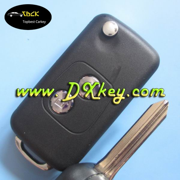 Topbest 2 button Modified fake car key for key cover citroen citroen key