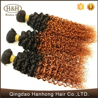 100% human ombre hair braiding hair virgin brazilian hair