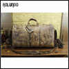 Wholesale vintage full grain leather travel luggage duffle bag for sale