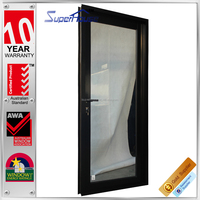 energy saving Australia standard used exterior doors for sale aluminium black french doors
