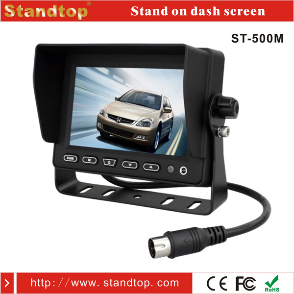5 inch car lcd tv 12v/24v led monitor system