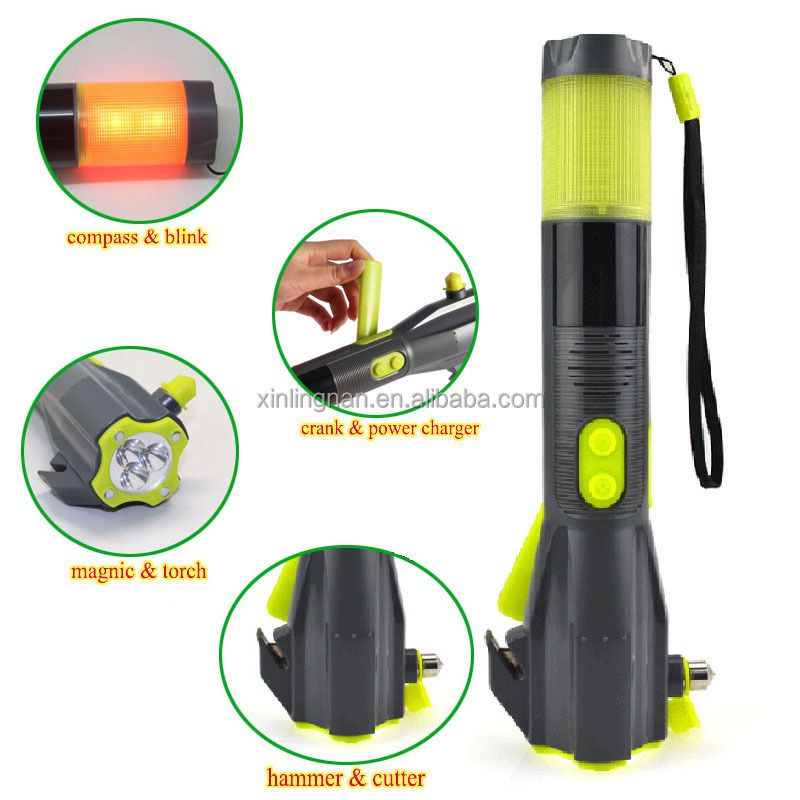 car tool kit with LED flashlights screwdriver emergency hammer