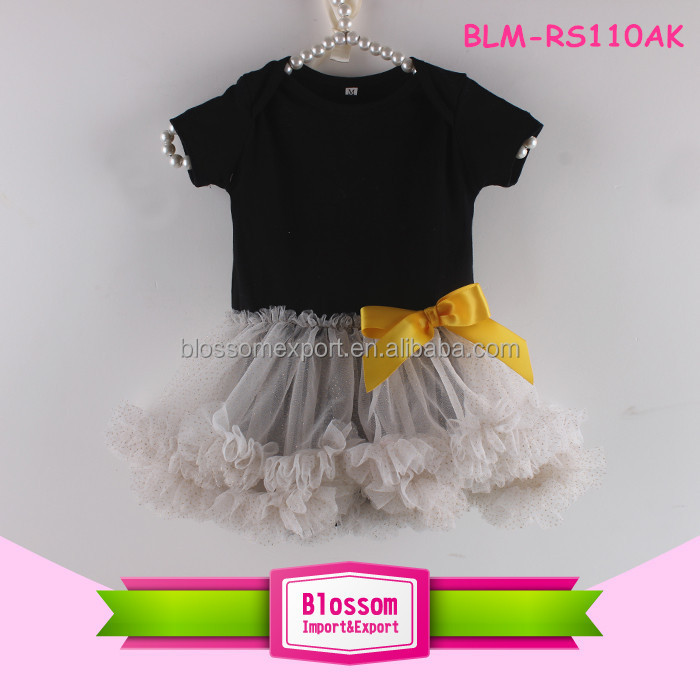 Infant sequin bodysuit headband soft 0-24M petti skirted baby sequin romper