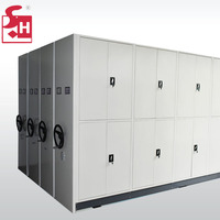 Mobile File Compactor Storage File Cabinet Shelving System Movable Shelves
