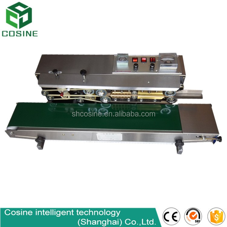 Continuous inflatable plastic bag sealing machine