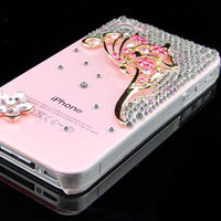 3D dragonfly crystal diamond case for iphone 5,for iphone 5 3D case