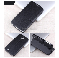 black PU leather case for lenovo p780 with wallet card holder
