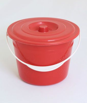High quality plain color plastic bucket with cover