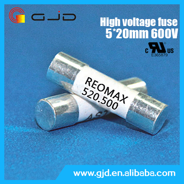 High breaking capacity 5*20mm 400mA 600v thermal fuse
