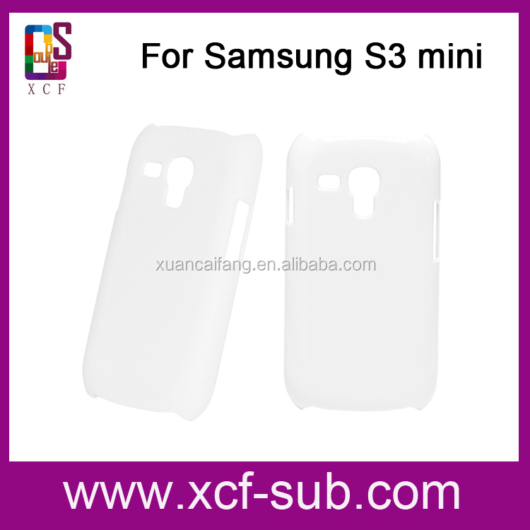 For Samsung S3 mini 3D sublimation plastic cell phone case/ 3D cell phone case /3D sublimati blank mobile phone cover