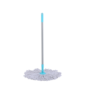 JIAXIN Super Cheap High Quality Round White Cotton Yarn Floor Cleaning Mop Stick Mop