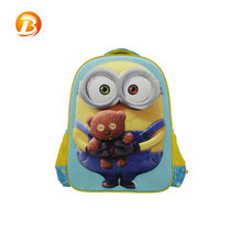 Personalized lightweight polyester cartoon kids backpack durable cute school bag