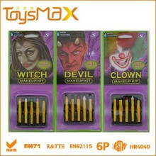 Halloween makeup kit crazy clown/witch/devil makeup sticks