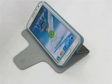 For Samsung Galaxy S2 N7100 Hot Sell PU Leather Case in wallet credit card slot and folded stand design