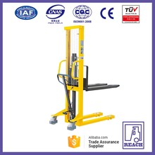 Best sale hand forklift manual pallet stacker,hydraulic stacker hydraulic lifter