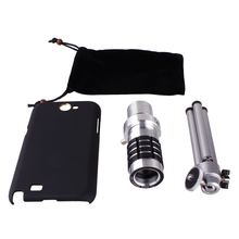 Big Sales 3-in-1 12X Zoom Long Focal Lens + Universal Holder + Mini Tripod with Case for Samsung Galaxy Note II N7100