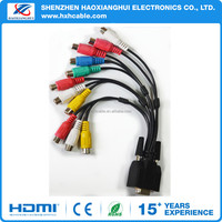High Quality 15Pin VGA cable RCA male to vga female cable
