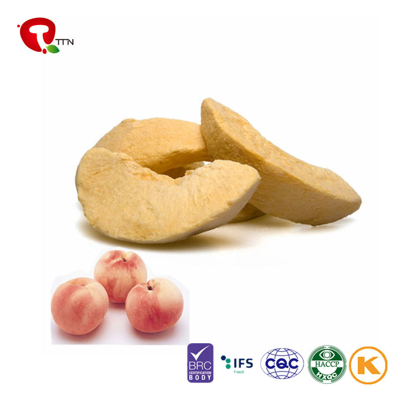 TTN VACUUM FREEZE DRIED PEACH (FD PEACH) NATURAL GREEN SAFE DELICIOUS CONVENIENT WITH ADVANCED TECHNOLOGY OF THE WORLD
