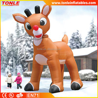 Gigantic 15 Foot Inflatable Rudolph the Red-Nosed Reindeer, inflatable christmas reindeer