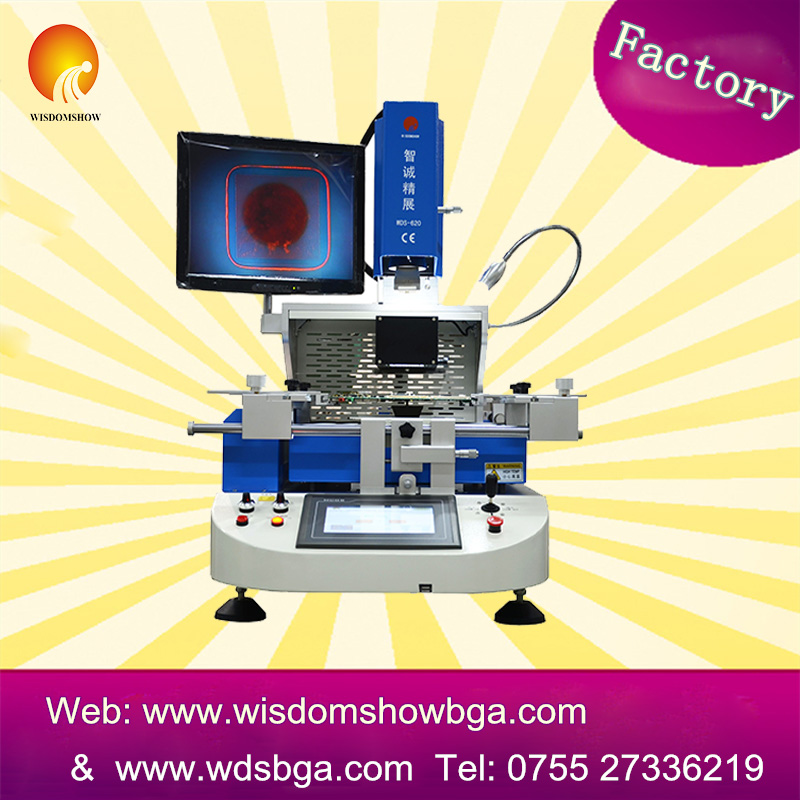WDS-620 optical alignment BGA rework station, semi-automatic bga desoldering machine, iphone6 reballing