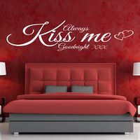 Nice and warm custom waterproof decoration always kiss me goodnight stickers