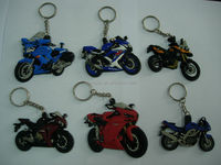 2014 new products cool motorcycle rubber key chains