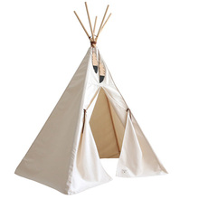 New design Kids Cotton Canvas Teepee Children's White Tipi Tents Indian kids teepee tent