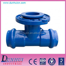 DOUBLE SOCKET TEE WITH FLANGED BRANCH PVC