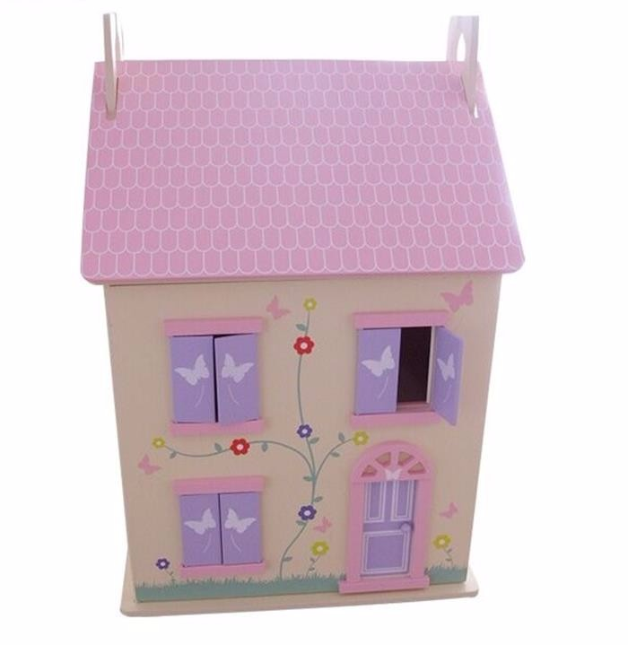 OEM and ODM service easily assemble cheap children wooden doll house