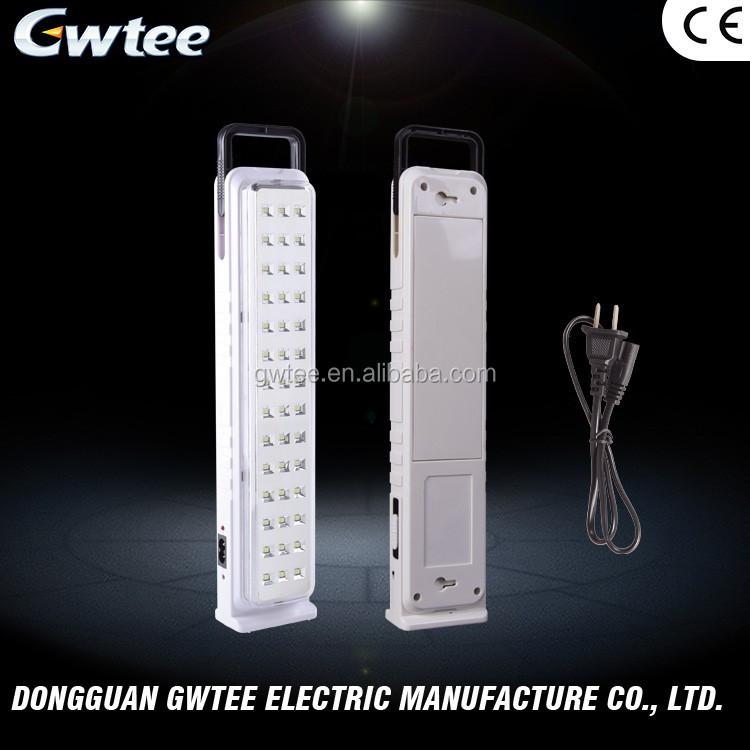 Wholesale 2017 top quality high power solar rechargeable led emergency light