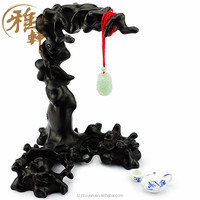2015 Yazhixuan Quality Product Wood Carving Crafts Ebony Display Stand for Decoration