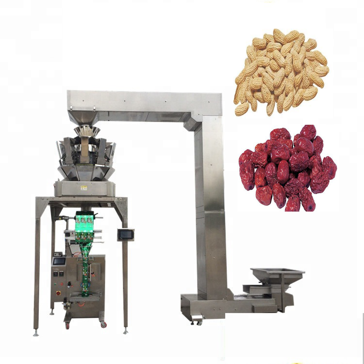 Multifunctional YB-<strong>Z10</strong> Automatic 10 head weigher rice Sunflower Seeds Packing chocolate beans packaging machine