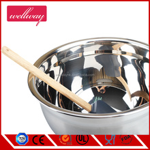 silicone bottom,stainless steel body,Metal Material and LFGB/FDA Certification Mixing Bowls with stirrer