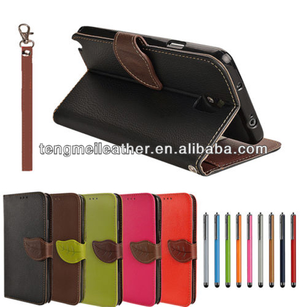 Leaf Leather Card Flip Wallet Case Cover Pouch For Samsung Galaxy Note 3,For samsung galaxy note 3 factory price case