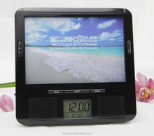 Mutifunction products digital clock fm radio with photo frame