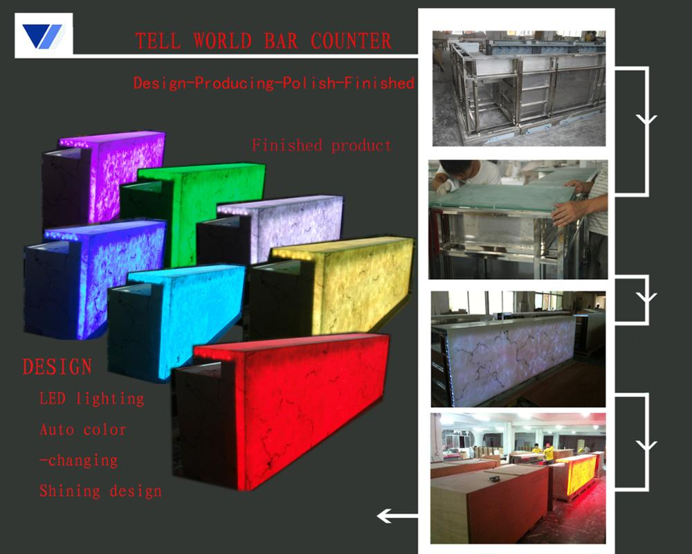 salad bar counter new design acrylic solid surface wine commercial furniture