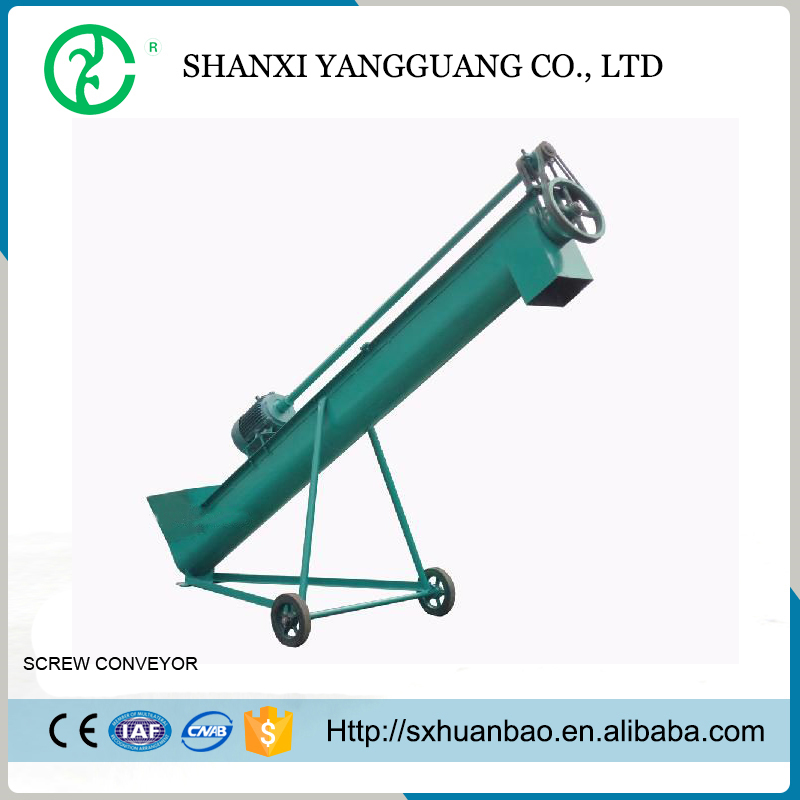 High Flexible Cement Spiral Inclined Screw Conveyor with Vibrating Hopper